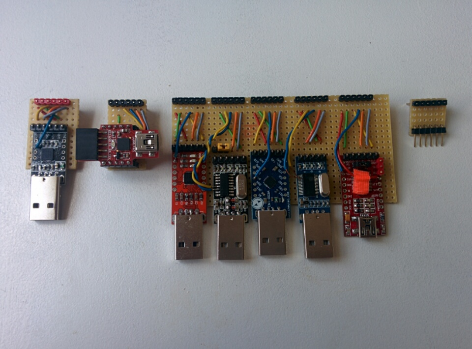 USB serial adapter perfboard version 2.