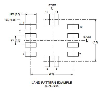 Land Pattern VQFN12