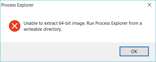 Process Explorer Error