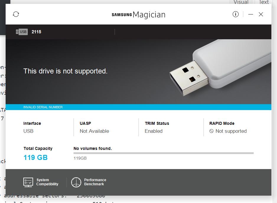 Samsung Magician for Samsung uSATA SSD