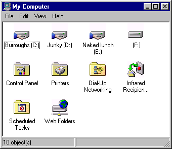 Infared Networking with Windows 98